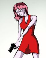 girl with gun - colored by ssslipgrrrl
