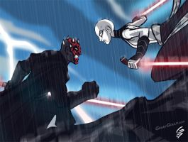 Darth Maul vs. Asajj Ventress by grantgoboom