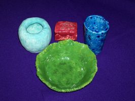 Pottery Pieces by WrenShimmamora