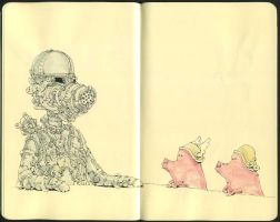 Three little pigs by MattiasA
