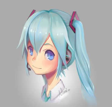 Miku Speedpaint by Namiiru