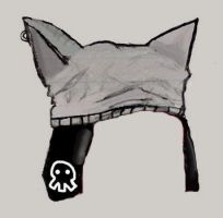 wolf hat by honest-misconception