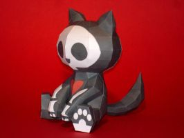 Kit - Skelanimal Papercraft by Skele-kitty