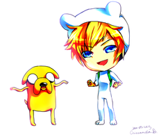 Finn and Jake by Ryuuchan4