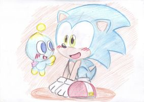 Sonic and Chao by LeniProduction