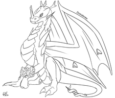 Beyond the crystals | Digimon G2 lineart by G3Drakoheart-Arts