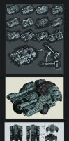 Artillery Vehicle --Concept-- by MattRIllustration