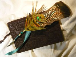 Flames of Life - handpainted Featherquill by Ganjamira