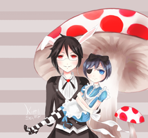 -ciel and sebastian in wonderland - by kittysophie