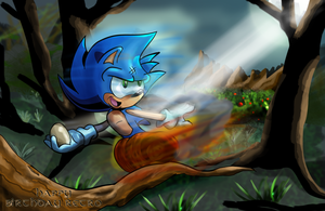 Sonic in the Forest for Retro by kintobor