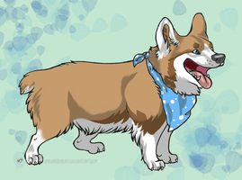 New Corgi Character -- Charlie by InsaneRoman