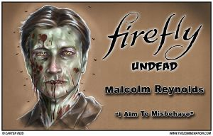 Malcolm Reynolds Zombified: Firefly Undead by zombiecarter