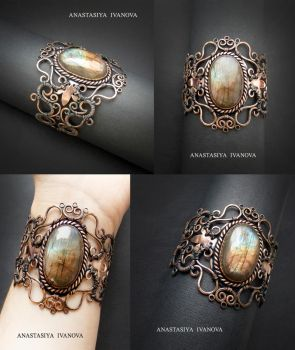 bracelet with labradorite by nastya-iv83