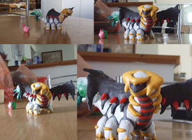 Giratina and the ice Bouquet by Kensey-Chan