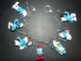 Smurfs Retro Cartoon Vintage Style Bracelet by Secretvixen