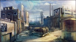 Industrial area concept-art 03 by Pa-Go