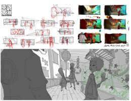 Production design development by Wardyworks