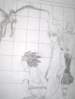 Stupid Death Note drawing by Mitsuukii