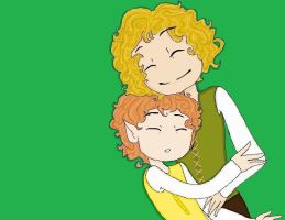 Merry and Pippin by LadyoftheQ