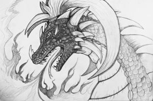 Dragon fire sketch by Eternity9