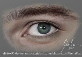 Chris Colfer's Eye by JuliaFox90