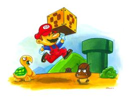 Super Mario Bros by WarBrown
