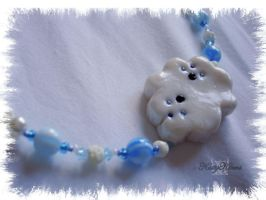 Happy Little Cloud Necklace by Cateaclysmic