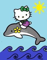 Hello Kitty- Fun time with a friend of the sea by YukiAtem12
