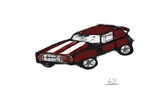 American muscle racing car by lewsirocks