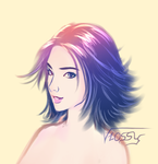 Yuna [Warm-Up Drawing] by Vlossy