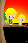 ((Toon Link and Aryll)) by Ask-TrainToonLink