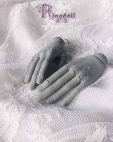 Ringdoll grey skin jointed hands 2 by Ringdoll
