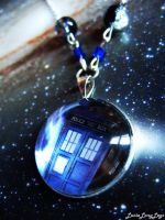 Doctor Who TARDIS necklace by Furious-Dee