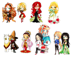 -  Christmas Gift -  Chibi Set 1 - by ooneithoo