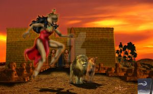 Sekhmet - Egypt Lion Goddess by TheSorceressRaven