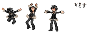 Izaya Battle Sprite by RivalAppears