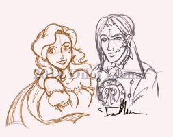 Albion Diko and Barry sketches by balba-bunny