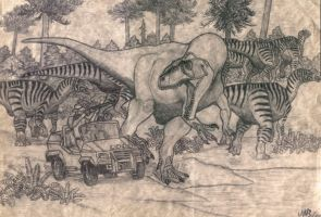 Hunt of the Giganotosaurus (2001). by jwmorenob