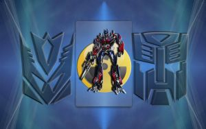OPTIMUS transformers wall by MJCSD