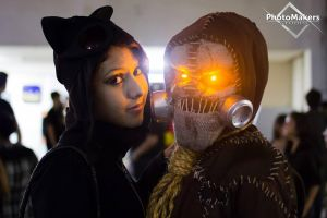 Catwoman and Scarecrow Cosplays by JNCosplayers