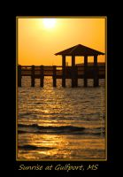 Sunrise At Gulfport, MS by LadyAliceofOz