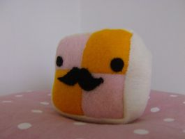 Moustachioed Battenburg by slumbergirl