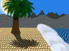 Beach and Palm Tree by KBAFourthtime