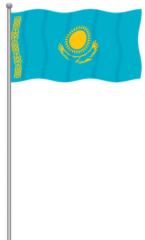 Flag of Kazakhstan by llmatako
