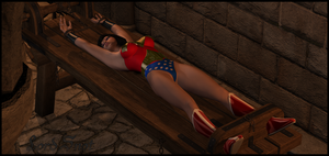 Wonder Woman on the Rack by LordSnot