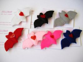 jellibat felt brooches by andricongirl