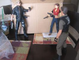 Resident Evil 1/6 scale figures showdown by Demon-Lord-Cosplay