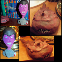 Purple Nazi and Cave Monster by BlindBirdWatcher