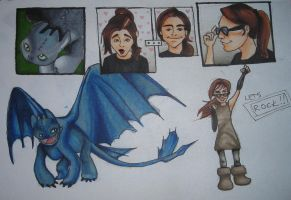 If I met toothless... by KittyNamedAlly