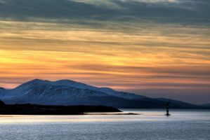 Sunset over the Isle of Mull by ZenonSt